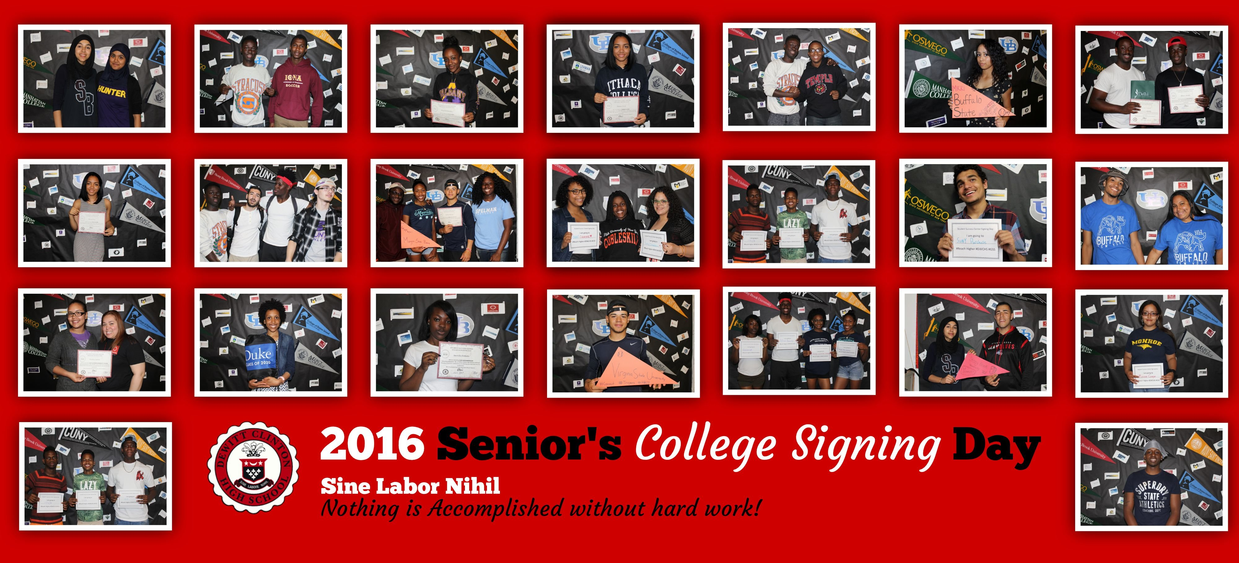 Senior's College Signing Day at the Students Success Center